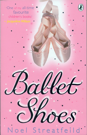 The book cover of 'Ballet Shoes' by Noel Streatfield