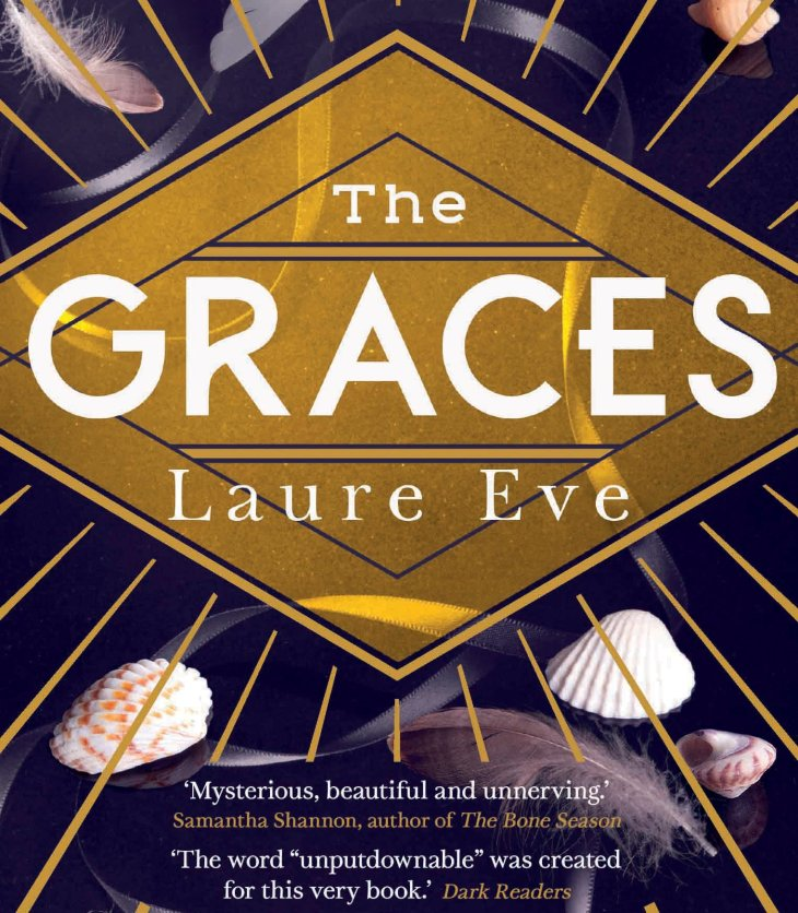 Book cover of 'The Graces' by Laure Eve, purple background