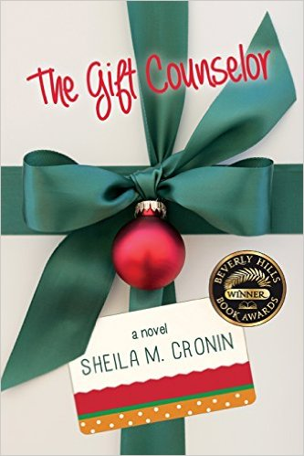 Book cover of 'The Gift Counselor' by Sheila M. Cronin, featuring a ribbon as if the book is the gift