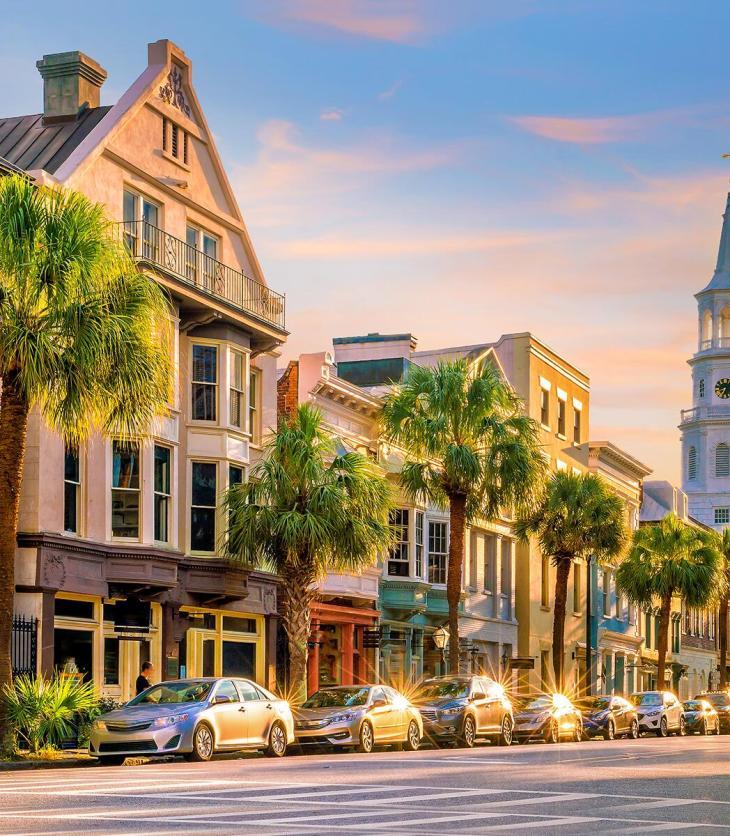 Image of a South Carolina city street