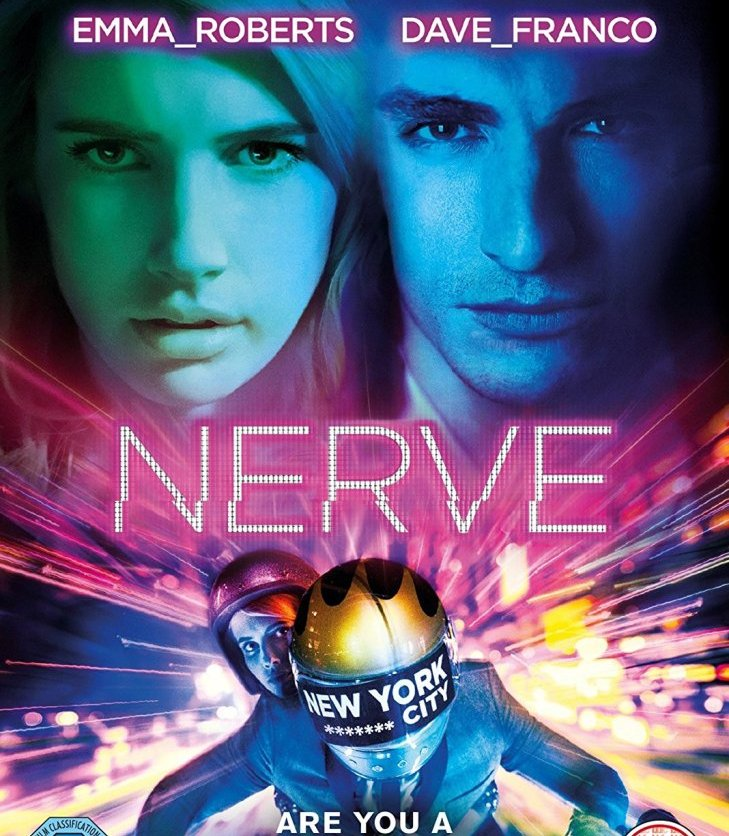 Book cover of 'Nerve' by Jeanne Ryan, featuring an image from the film