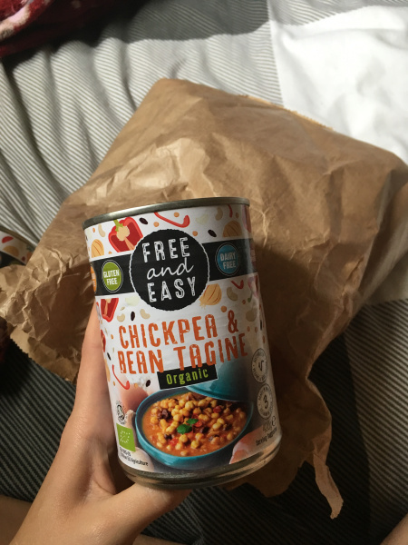 Chickpea tagine in a tin