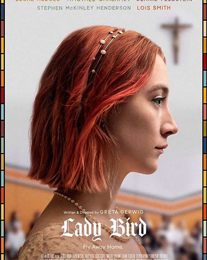 Film poster for Ladybird, featuring the title character in profile
