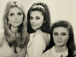 The three women from 'Valley of the Dolls' pose for the camera.