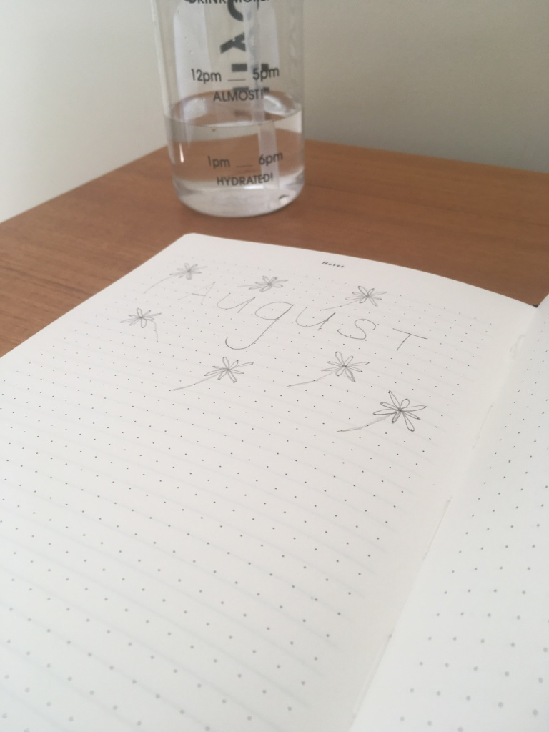 The Mal Paper Planner open to a dotted paper page, where users can doodle etc.