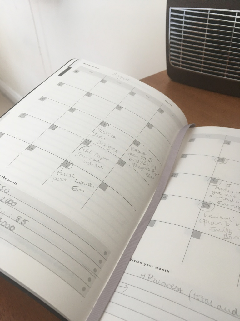 The Mal Paper Panner open to a calendar page.
