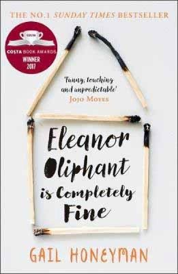 The book cover of 'Eleanor Oliphant is Completely Fine' by Gail Honeyman