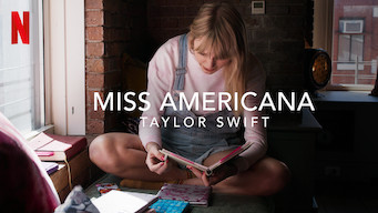 The logo and advertisement for the documentary 'Miss Americana'.