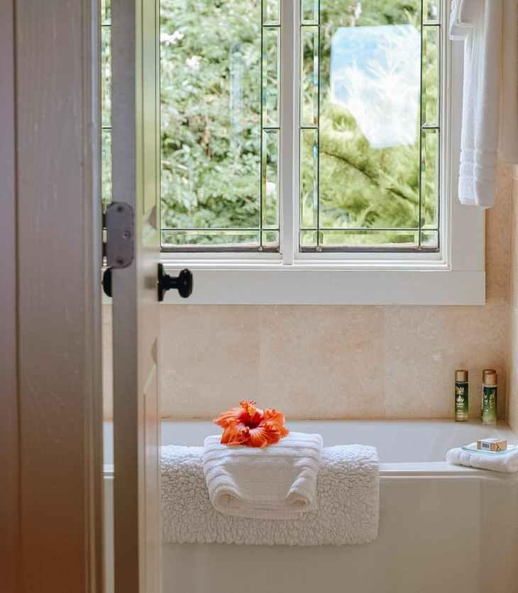 bathroom in modern resort house