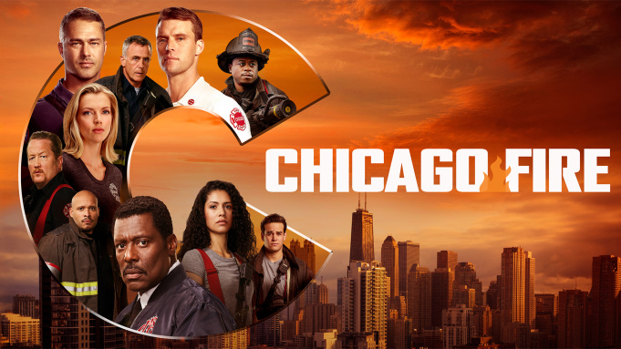 The characters from the series 'Chicago Fire' pose for the camera.