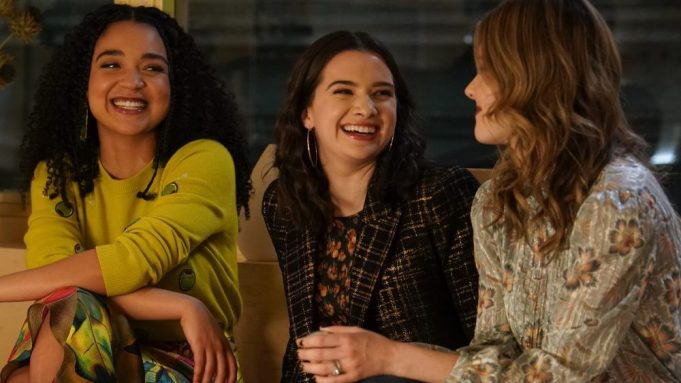The three women in 'The Bold Type' laugh together