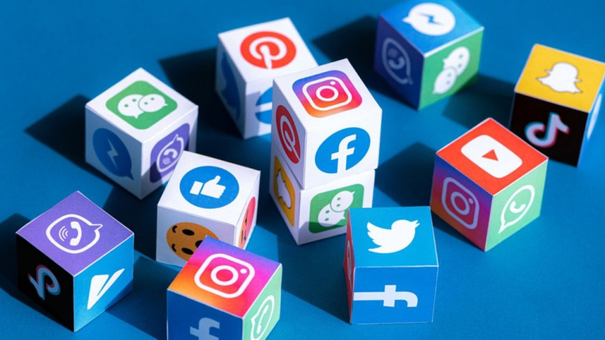 A bunch of social media icons, including Instagram, Twitter, and LinkedIn